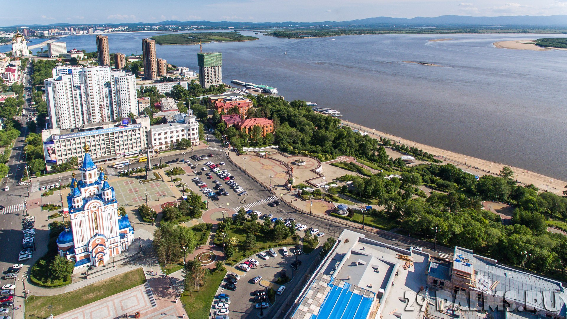 001_Rossiya_Habarovsk_Panorama_Komsomol'skoy_ploschadi_Khabarovsk_Komsomolskaya_square_Russian_far_East_Foto_AlexS_-_Depositphotos